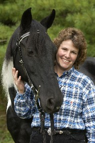 photo of Kathy Huggins and horse