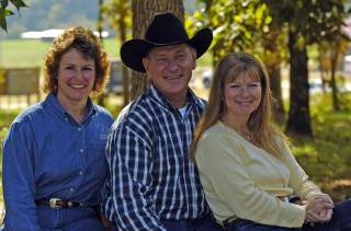 Kathy Huggins with John and Jody Lyons